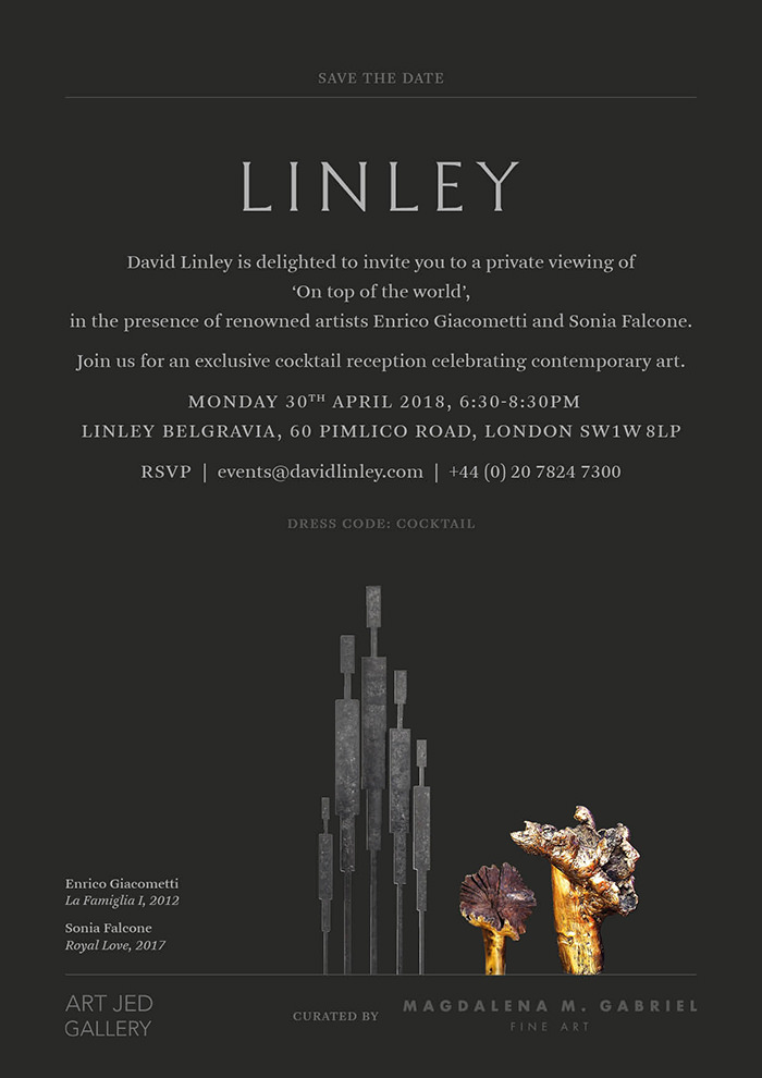 magdalena m gabrieldavid linley invitation LINLEY Collaboration